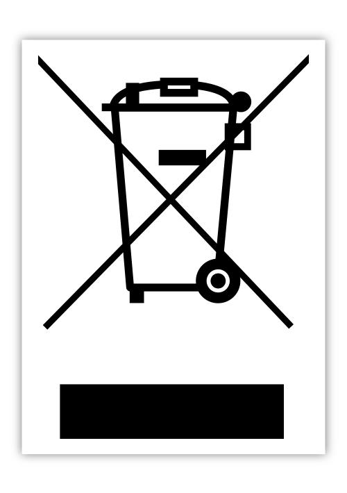 Das Symbol zur Kennzeichnung von Elektronikgeräten.